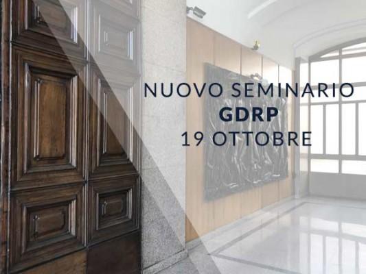 19 ottobre 2018 - Seminario gratuito GDPR